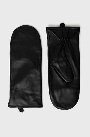 Samsoe Samsoe - Rękawiczki skórzane