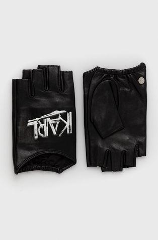 Karl Lagerfeld - Кожени ръкавици без пръсти