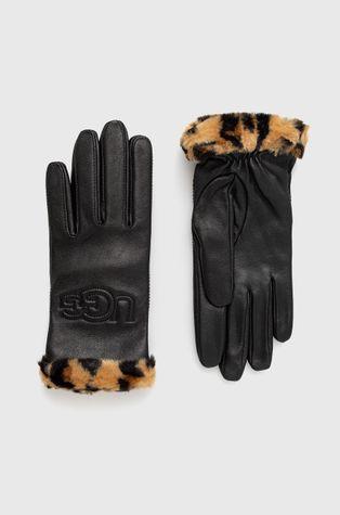UGG - Rękawiczki skórzane Logo Tech