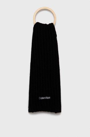 Calvin Klein - Szalik z domieszką wełny