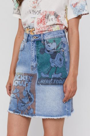 Desigual - Džínová sukně x Mickey Mouse