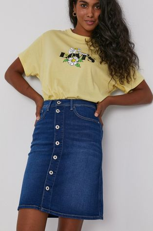 Pepe Jeans - Spódnica jeansowa Marble