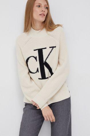 Calvin Klein Jeans - Sweter z domieszką wełny