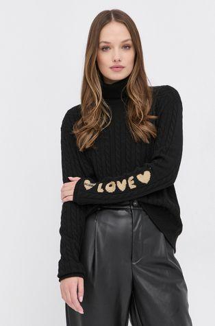 Love Moschino - Sweter z domieszką wełny