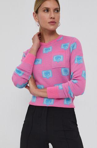 Chiara Ferragni - Вълнен пуловер Eyelike