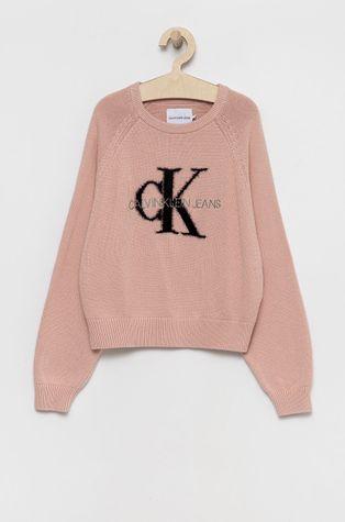 Calvin Klein Jeans - Detský bavlnený sveter