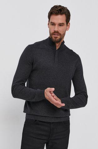Boss - Sweter z domieszką wełny