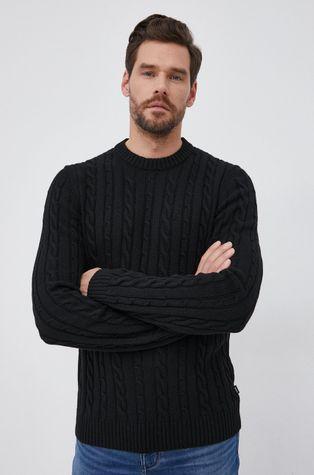 Boss - Sweter z domieszką kaszmiru