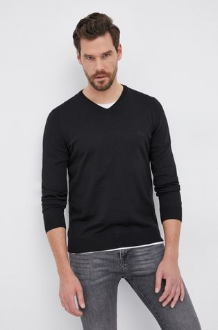 Boss - Sweter wełniany