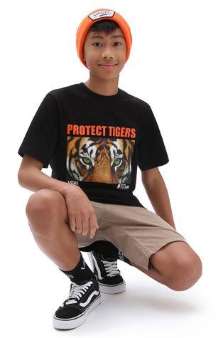 Vans - T-shirt bawełniany dziecięcy x Project Cat