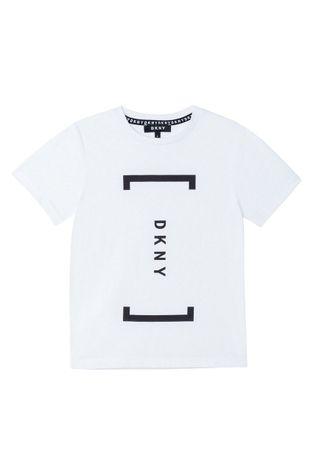 Dkny - Дитяча бавовняна футболка