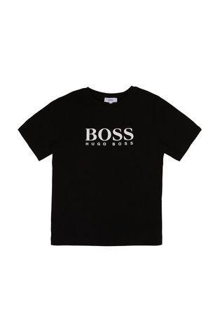Boss - T-shirt bawełniany dziecięcy