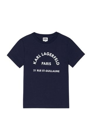 Karl Lagerfeld - T-shirt bawełniany dziecięcy