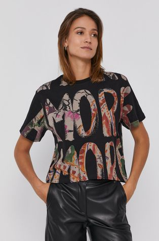 Desigual - Bavlnené tričko