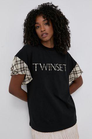 Twinset - Μπλουζάκι με μείγμα μαλλιού