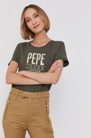 Pepe Jeans - Бавовняна футболка Blancas