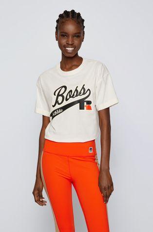 Boss - Памучна тениска Boss x Russell Athletic