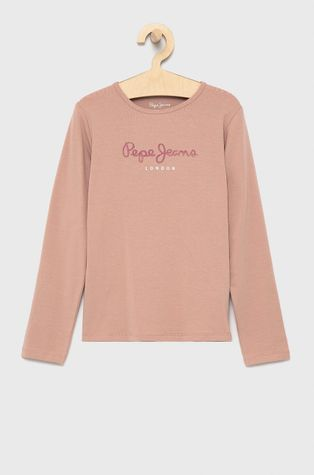 Pepe Jeans - Детска блуза с дълги ръкави Hana Glitter