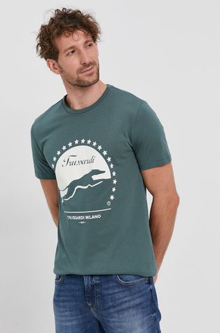 Trussardi - T-shirt bawełniany