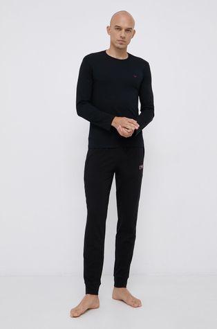 Emporio Armani Underwear - Памучна пижама с дълги ръкави