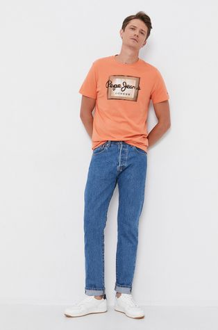 Pepe Jeans - T-shirt bawełniany Wesley