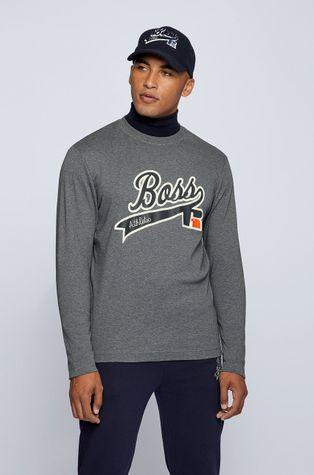 Boss - Βαμβακερό πουκάμισο με μακριά μανίκια Boss x Russell Athletic