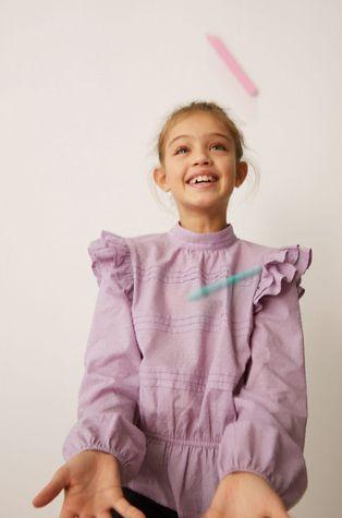 Mango Kids - Дитяча бавовняна блузка Yvette 116-164 cm
