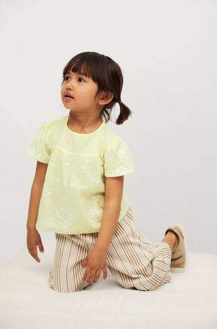 Mango Kids - Дитяча бавовняна блузка Santas 80-110 cm