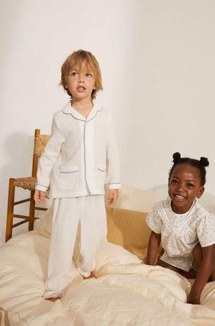 Mango Kids - Piżama dziecięca Piping 86-116 cm