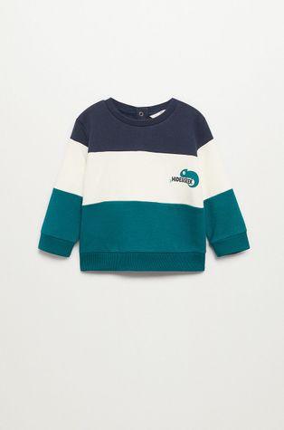 Mango Kids - Bluza bawełniana dziecięca BLOCK3