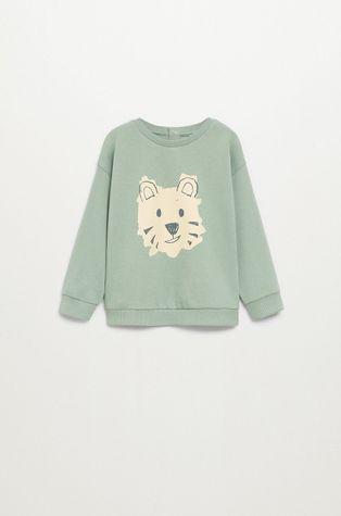 Mango Kids - Bluza bawełniana dziecięca TIGRE