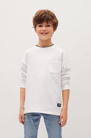 Mango Kids - Detská bavlnená mikina Tony 110-164 cm