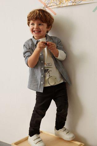 Mango Kids - Dětská bavlněná košile Matcha 80-104 cm