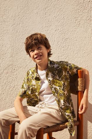 Mango Kids - Dětská bavlněná košile Fiji8 110-164 cm