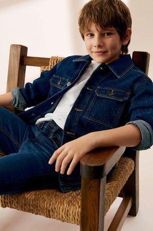Mango Kids - Kurtka jeansowa dziecięca Paul 110-164 cm