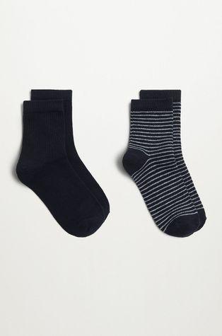 Mango Kids - Dětské ponožky BLACK (2-PACK)