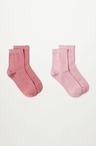 Mango Kids - Detské ponožky SCALLOP (2-pak)