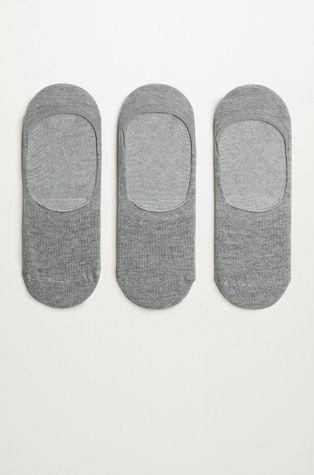 Mango Man - Kotníkové ponožky PINKGREY (3-PACK)