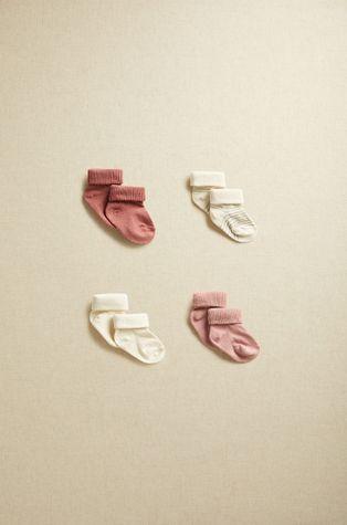 Mango Kids - Skarpetki niemowlęce ROSITAS (4-PACK)