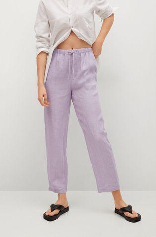 Mango - Kalhoty Linen