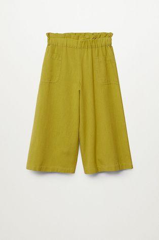 Mango Kids - Spodnie dziecięce Harper 116-164 cm