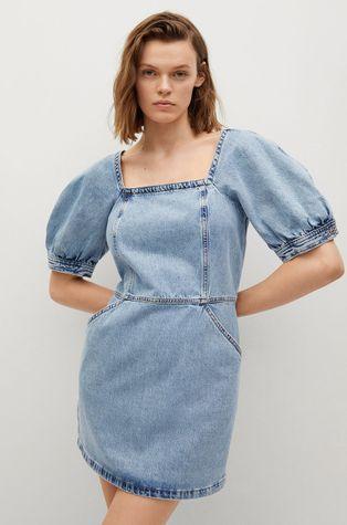 Mango - Rifľové šaty Vitoria