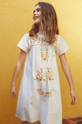 Mango Kids - Детска рокля Mexican 110-164 cm