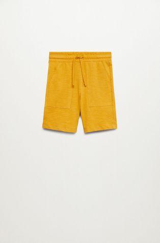 Mango Kids - Detské krátke nohavice Slub8 110-164 cm