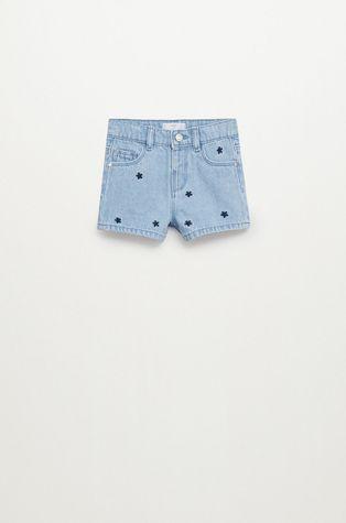 Mango Kids - Szorty jeansowe dziecięce Dots 80-104 cm