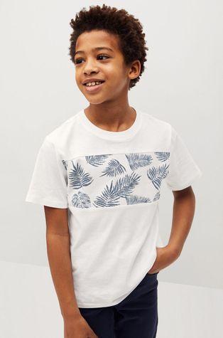Mango Kids - Dětské tričko Leaves 110-164 cm