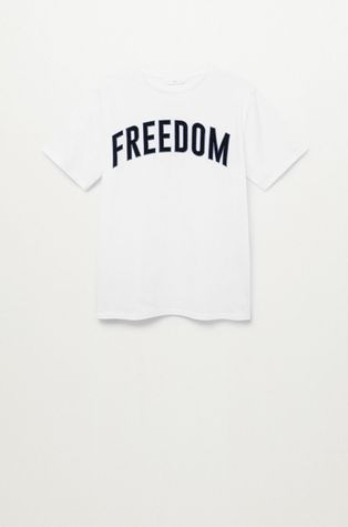 Mango Kids - T-shirt dziecięcy FREEDOMT