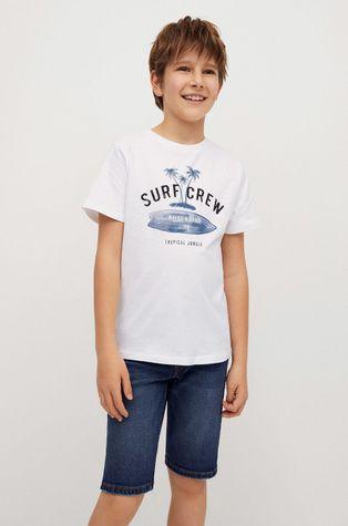 Mango Kids - Dětské tričko Logo 110-164 cm