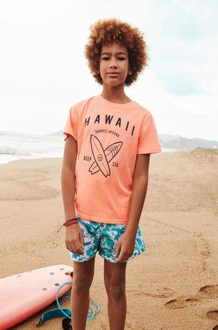 Mango Kids - T-shirt dziecięcy HAWAII