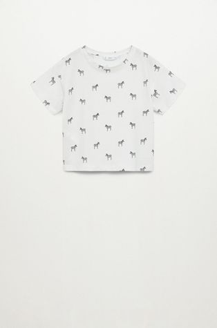 Mango Kids - T-shirt dziecięcy Stamp 110-164 cm